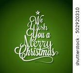 christmas tree logo lettering... | Shutterstock .eps vector #502920310