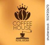 vector coffee beans label.... | Shutterstock .eps vector #502920670