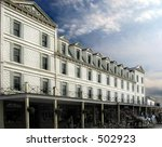 Old hotel on Mackinac Island - stock photo