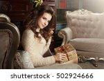 portrait of a beautiful girl in ...   Shutterstock . vector #502924666
