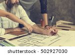 design studio architect... | Shutterstock . vector #502927030