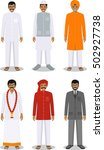 set of different standing... | Shutterstock .eps vector #502927738