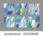 set of creative universal... | Shutterstock .eps vector #502928389