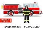 fireman concept. detailed... | Shutterstock .eps vector #502928680
