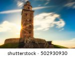 the oldest lighthouse in... | Shutterstock . vector #502930930