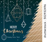 geometric christmas tree and... | Shutterstock .eps vector #502932496