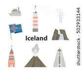 iceland icon set vector... | Shutterstock .eps vector #502933144