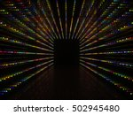 Abstract Black Interior With...