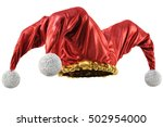 jester hat isolated on white... | Shutterstock . vector #502954000