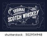 vintage label design for... | Shutterstock .eps vector #502954948