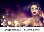 beauty model woman wearing... | Shutterstock . vector #502955290