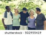 senior group friends exercise... | Shutterstock . vector #502955419