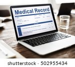 medical report record form... | Shutterstock . vector #502955434