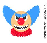 Clown Angry Vector Cartoon Wit...