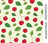 cherry pattern. cherry with...   Shutterstock .eps vector #502959229