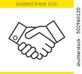 handshake linear icon.... | Shutterstock .eps vector #502960120