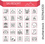 ski resort outline  icon... | Shutterstock .eps vector #502964320