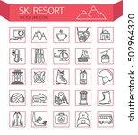 ski resort outline  icon... | Shutterstock .eps vector #502964320