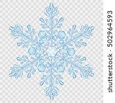 big translucent crystal... | Shutterstock .eps vector #502964593