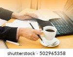 working women  hands of women... | Shutterstock . vector #502965358