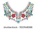 neck embroidery in vector. | Shutterstock .eps vector #502968088