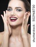 beauty fashion portrait of... | Shutterstock . vector #502968730