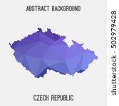 czech republic map in geometric ... | Shutterstock .eps vector #502979428
