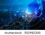 double explosure with businesss ... | Shutterstock . vector #502982200