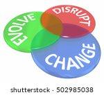 change evolve disrupt innovate... | Shutterstock . vector #502985038