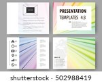set of business templates for... | Shutterstock .eps vector #502988419
