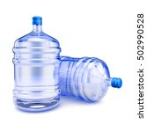 Two Bottles With Purified Wate...