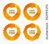 heart sign icon. love you...   Shutterstock .eps vector #502995193