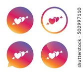 hearts with arrow sign icon.... | Shutterstock .eps vector #502997110