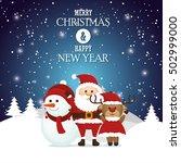 postcard merry christmas and...