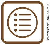 items brown vector icon. image...