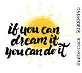 motivation message if you can... | Shutterstock .eps vector #503004190