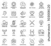 icons personality psychology.... | Shutterstock .eps vector #503008120