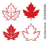 a set of four canadian maple... | Shutterstock .eps vector #503008588