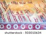 puma mural  or jaguar mural  is ... | Shutterstock . vector #503010634