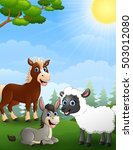 illustration of farm animals... | Shutterstock . vector #503012080
