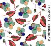 bright hawaiian design with... | Shutterstock .eps vector #503016484