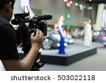 covering an event on stage with ... | Shutterstock . vector #503022118