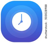 clock purple   blue circular ui ...
