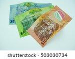 brunei dollar notes on white... | Shutterstock . vector #503030734