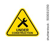 under construction sign.vector | Shutterstock .eps vector #503031550