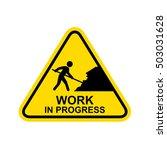 work in progress sign.vector | Shutterstock .eps vector #503031628