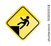 caution watch your step sign... | Shutterstock .eps vector #503033518