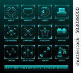 futuristic style user interface ...
