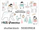 christmas hand drawn doodle... | Shutterstock .eps vector #503039818