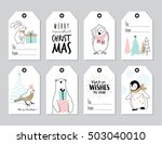 set of hand drawn christmas... | Shutterstock .eps vector #503040010